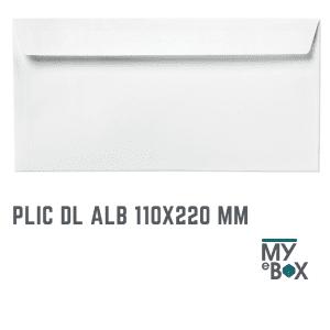 Plic DL Alb 110X220 mm