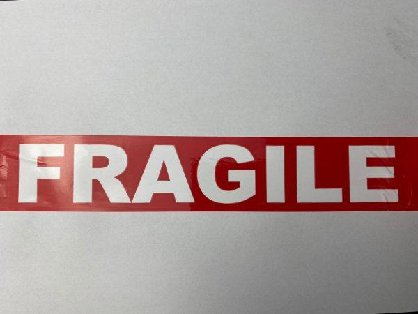 Banda adeziva Fragil Red..Fragil